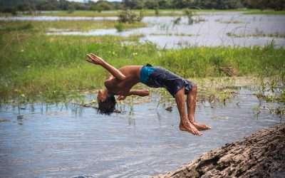 Brazilian Backflipping Boy
